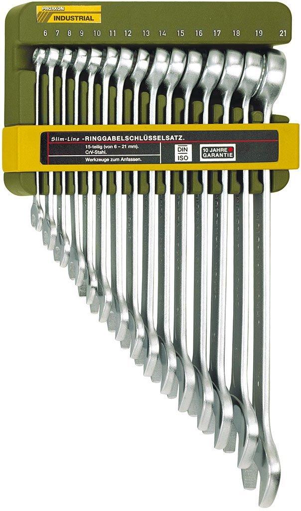 Schraubenschlüssel Proxxon 15 tlg. 6-21 mm