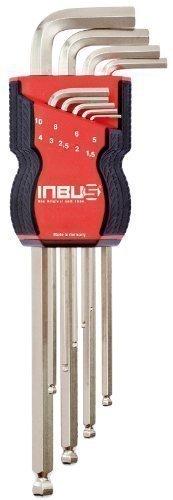 INBUS® 70167 Inbusschlüssel Set / Satz mit Kugelkopf Metrisch 9tlg.